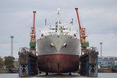 Vessel in dry dock — Stock Photo