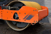 Steamroller fragment — Stock Photo