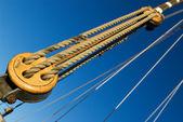 Sail ship rigging part — Stock Photo