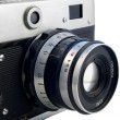 Old rangefinder camera - Stock Photo
