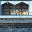 Early morning on small rail station — Stock Photo #2107366