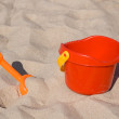 Toy showel and bucket — Stock Photo