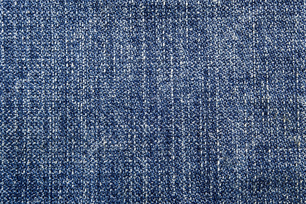 Blue jeans broken twill textile texture — Stock Photo #2107258