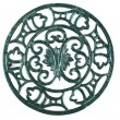 Stock Photo: Antique cast iron trivet