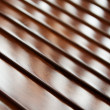 Tilt view on polished wood - Stock Photo