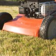 Lawnmower front part close-up - Stock Photo