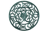 Antique cast iron trivet — Stock Photo