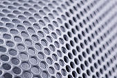Curved perforated metal — 图库照片
