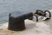 Mooring bollard — Stock Photo