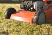 Lawnmower front part close-up — Stock Photo