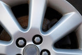 Alloy wheel fragment — Stock Photo