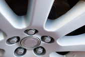 Fragment of alloy wheel — Stock Photo