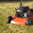 Motor driven lawnmower — Stock Photo