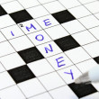 Time, money crossword — Stock Photo