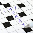 Royalty-Free Stock Photo: Time, money crossword