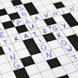 Marketing, Strategy, Solution crossword — Stock Photo
