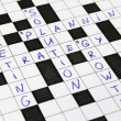 Royalty-Free Stock Photo: Marketing, Strategy, Solution crossword