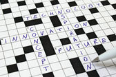 Concept, Innovation crossword — Stock Photo