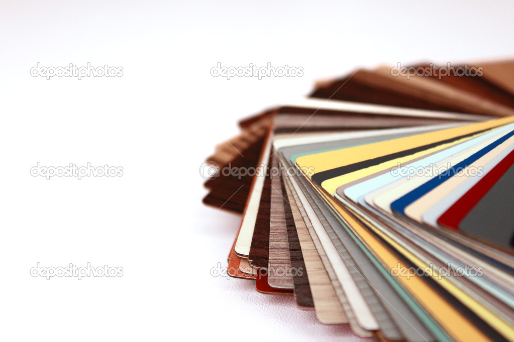 Various color palette isolated on white — Stock Photo #2047225