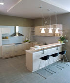 Elegant and luxury kitchen interior. — Stock Photo