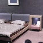 Elegant and luxury bedroom interior. — Stock Photo