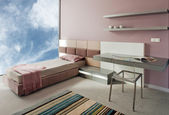 Beautiful and modern young room interior — Stock Photo