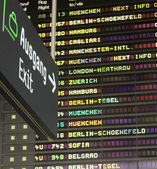 Airport time table. — Stock Photo