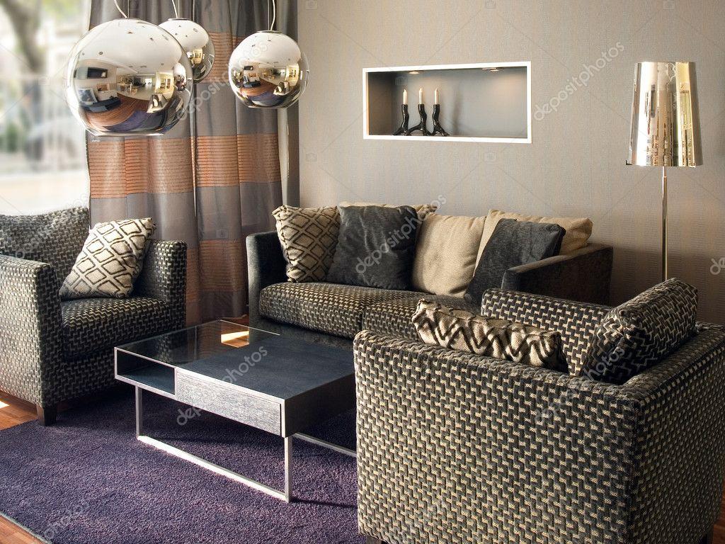 Elegant vardagsrum inredning — Stockfotografi © Angel_Vasilev77 ...