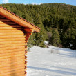 Chalet in the mountain. - Stock Photo