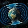 Stock Photo: Earth magnetic field