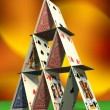 Card castle - Foto Stock