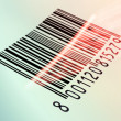 Stock Photo: Barcode reading