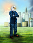 Eagle businessman — Stock Photo