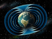 Earth magnetic field — Stock Photo