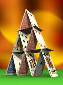 Card castle — Stock Photo