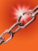Breaking chain — Stock Photo