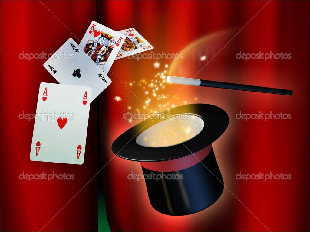 Some illusionist tools for a magical show. Digital illustration.  Stock Photo #2014351