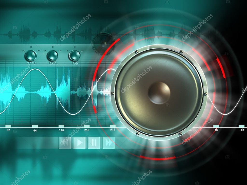 Electronic music processing tools. Digital illustration. — Stock Photo #2014626