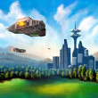 Futuristic city — Stock Photo #2506013