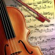 violin music — Stock Photo