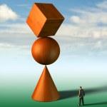 Impossible equilibrium — Stock Photo
