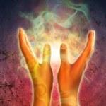 Hands energy — Stock Photo