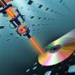 Stock Photo: Compact disc burning