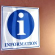 Information sign. — Stock Photo