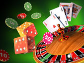 Gambling games — Foto Stock