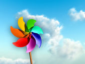 Colorful pinwheel — Stock Photo