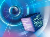 Binary cube — Stock Photo