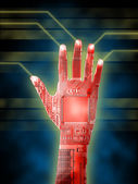 Cybernetic hand — Stock Photo