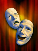 Theatre masks — Stock Photo