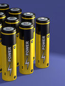 Battery group — Stock Photo
